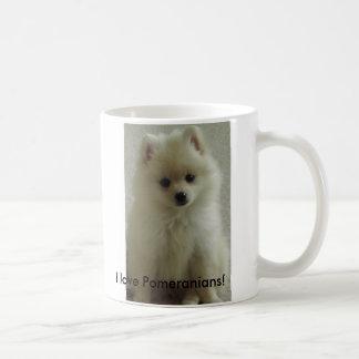 ¡pom, amo Pomeranians! Taza Clásica