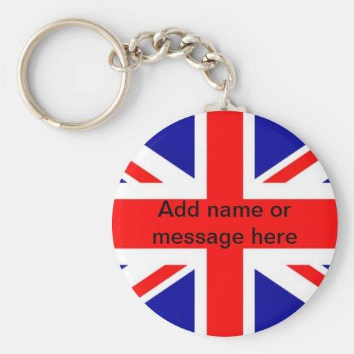 Pom británico de Reino Unido de la bandera de la b Llavero Personalizado
