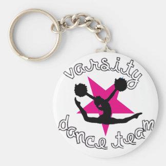Pom Dance team Basic Round Button Keychain