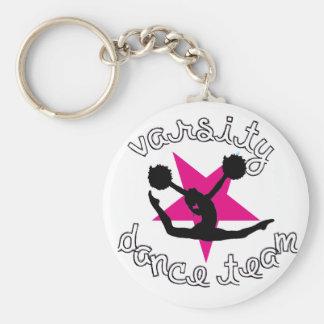 Pom Dancer Basic Round Button Keychain