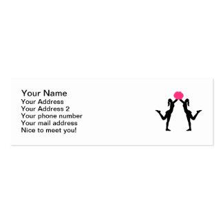 Pom de los chicas de la animadora tarjetas de visita mini