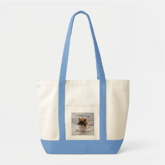 Pom in cup on bag