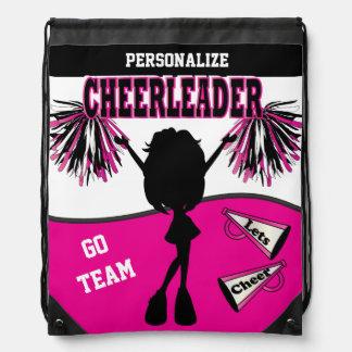 Pom Pom Cheerleader | Hot Pink White Black Backpacks