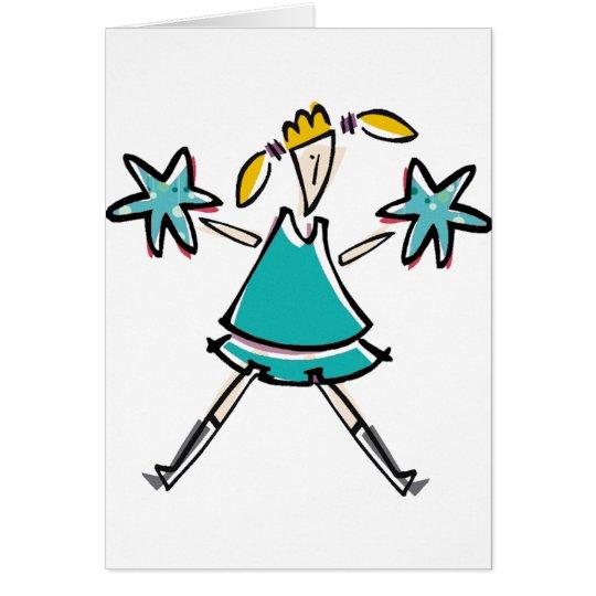 Pom Pom Girl Card