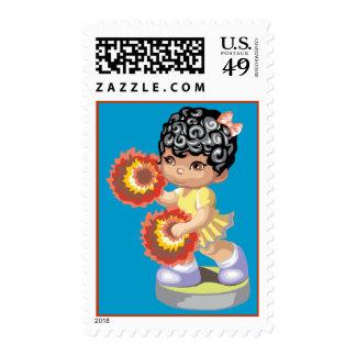 Pom Pom Girl Stamps