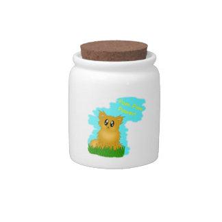 Pom Pom Power Cute Scuffy Pomeranian Treat Jar Candy Jars