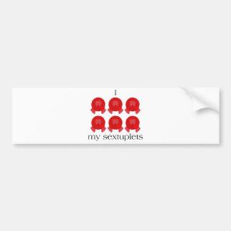 Pom Pom Sextuplets Bumper Sticker