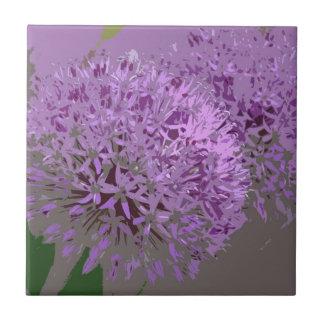 POM POMS (flores) Azulejo Cuadrado Pequeño