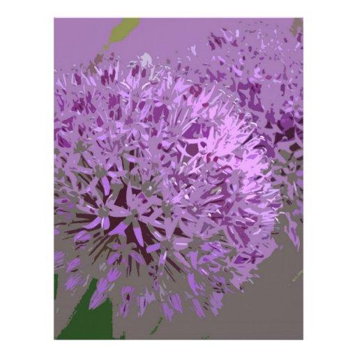 POM POMS (flowers) Custom Letterhead