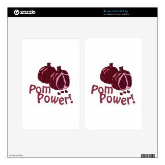 Pom Power! Kindle Fire Skins