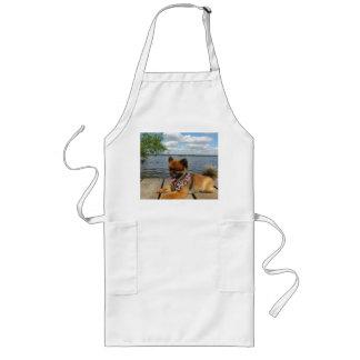 pom pup on dock long apron
