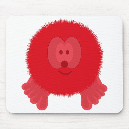 Pom rojo Pom PAL Mousepad Tapete De Raton
