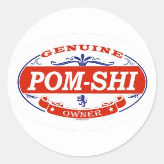 Pom-Shi Pegatinas Redondas