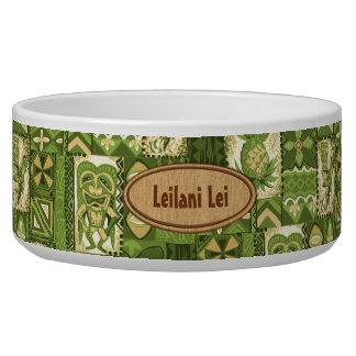 Pomaika'i Tiki Hawaiian Vintage Tapa Bowl