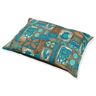 Pomaika'i Tiki Hawaiian Vintage Tapa Pet Bed