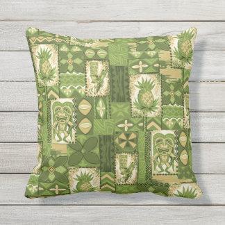 Pomaika'i Tiki Hawaiian Vintage Tapa Pillow