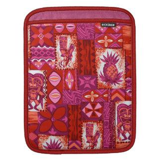 Pomaika'i Tiki Hawaiian Vintage Tapa Sleeves For iPads