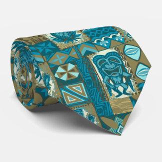Pomaika'i Tiki Hawaiian Vintage Tapa Two-Sided Tie