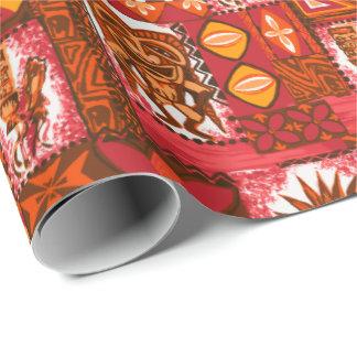 Pomaika'i Tiki Hawaiian Vintage Tapa Two-Sided Wrapping Paper