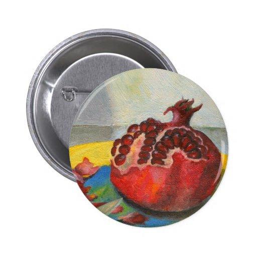 pomegranate 2 inch round button