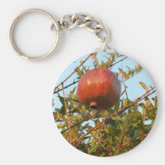 Pomegranate Basic Round Button Keychain