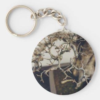 Pomegranate bonsai branches keychain
