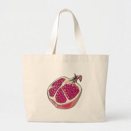 pomegranate canvas bag