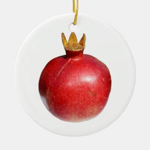 KSD Christborn Marshall Fields Blown Glass Fruit Pomegranate Christmas Ornament