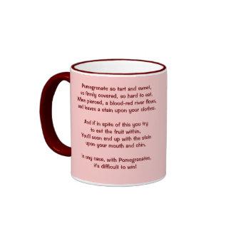 Pomegranate Cup Ringer Coffee Mug