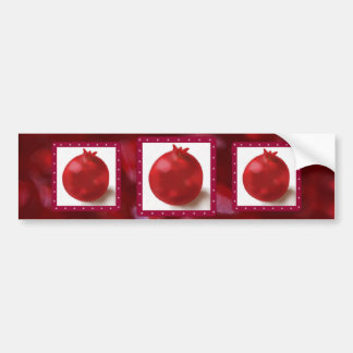 Pomegranate Cute Red drawing Bumper Stickers