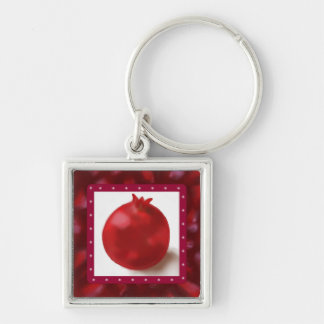 Pomegranate Cute Red drawing Keychain