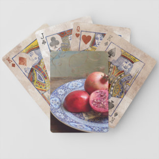 Pomegranate Fruit Still Life Bicycle Playing Cards