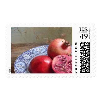 Pomegranate Fruit Still Life Postage Stamp