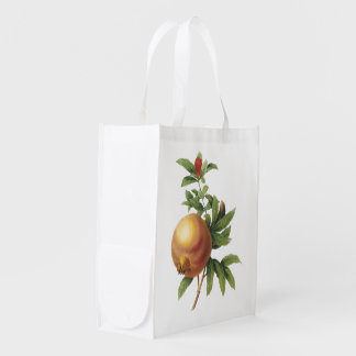 pomegranate(Grenadier punica) by Redouté Reusable Grocery Bag