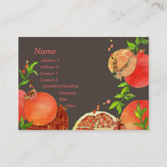Pomegranate hip fruits catering business cards zazzle pomegranate hip fruits catering business cards colourmoves