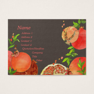 Pomegranate Hip Fruits Catering Business Cards