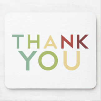 Pomegranate Ink - Multi Color Thank You Mouse Pad