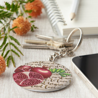 Pomegranate Love Once Again Keychain