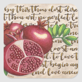 Pomegranate Love Once Again Square Sticker