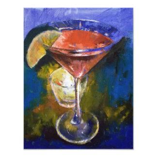 Pomegranate Martini Invitation