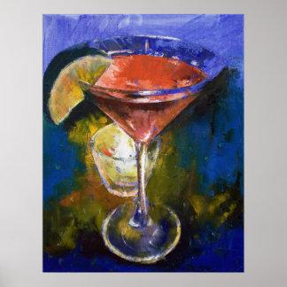 Pomegranate Martini Print