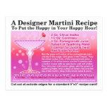 Pomegranate Martini Recipe Postcard