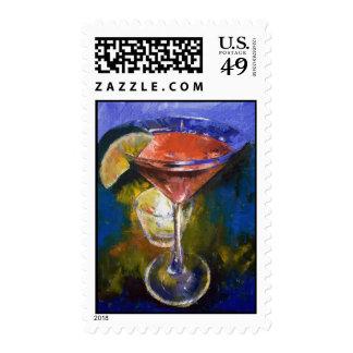 Pomegranate Martini Stamp