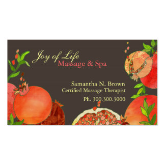 Pomegranate: Massage & Spa Appointment Cards Business Card Template