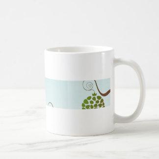 pomegranate classic white coffee mug