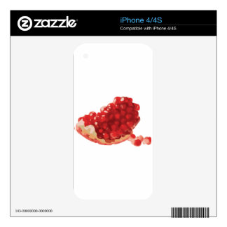 Pomegranate Open and Delicious Decals For iPhone 4