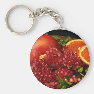 Pomegranate, Orange and Mint Keychain
