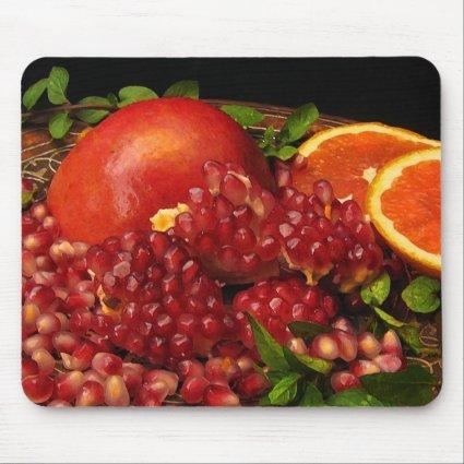Pomegranate, Orange and Mint Mouse Pad
