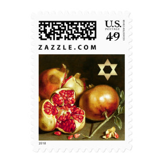 Pomegranate Painting & Star of David Postage