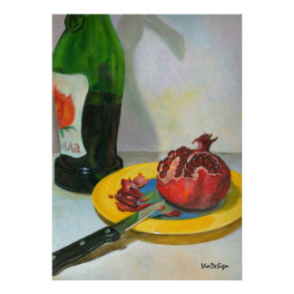 pomegranate print